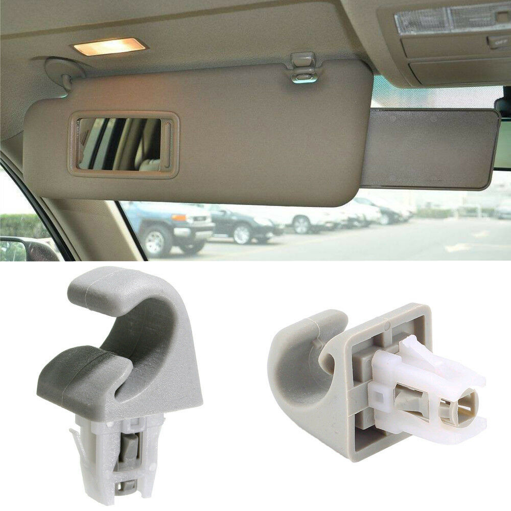 Car Interior Sun Visor Clip Hook Bracket Beige For Toyota Camry Corolla RAV4