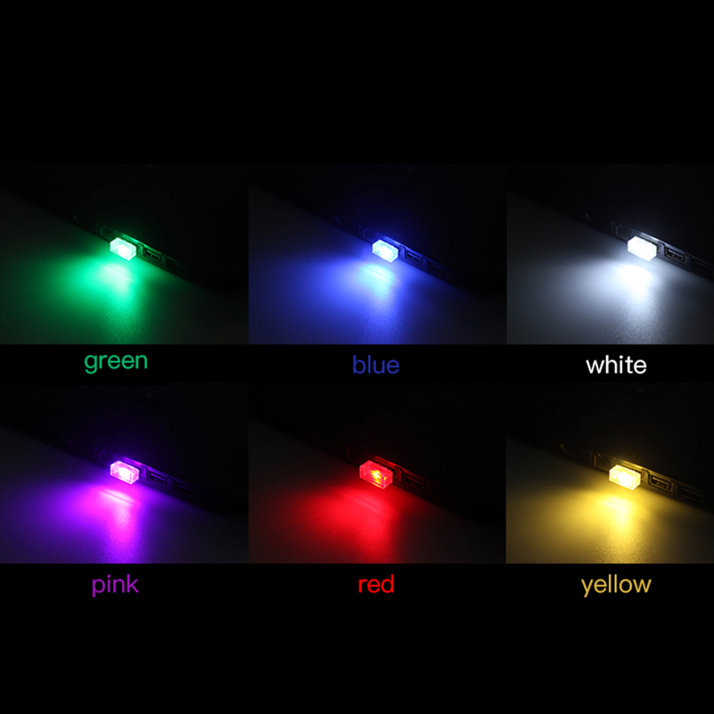1PC Flexible Mini USB LED Light Colorful Lamp Fit For Car Atmosphere Lamp Bright