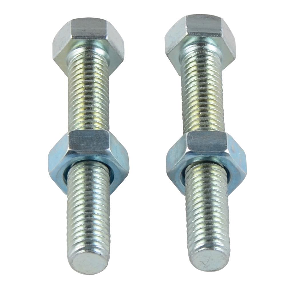Alician 1pair M8x50 Rear Chain Adjuster Bolts for Kawasaki KX KX85 01-18 KX125 KX250 1988-2008 Auto Accessories